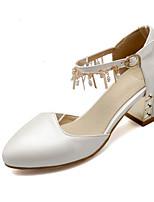 Недорогие -Жен. Комфортная обувь Полиуретан Весна Обувь на каблуках На толстом каблуке Белый / Синий / Розовый / Свадьба