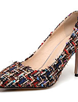 Недорогие -Жен. Комфортная обувь Синтетика Весна Обувь на каблуках На шпильке Черный / Бежевый