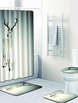 Недорогие -1 комплект Мультяшная тематика Коврики для ванны 100 г / м2 полиэфирный стреч-трикотаж Животное Прямоугольная Ванная комната Cool