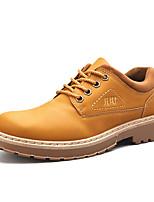 Недорогие -Муж. Комфортная обувь Полиуретан Осень На каждый день Туфли на шнуровке Доказательство износа Черный / Желтый / Коричневый