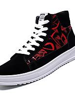 Недорогие -Муж. Комфортная обувь Полиуретан Осень На каждый день Кеды Нескользкий Контрастных цветов Золотой / Белый / Красный