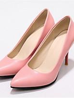 Недорогие -Жен. Комфортная обувь Полиуретан Лето Обувь на каблуках На шпильке Белый / Черный / Розовый
