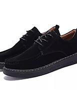 baratos -Homens Sapatos Confortáveis Couro Ecológico Outono Oxfords Preto / Verde / Khaki