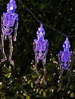 abordables -HKV 1.5m Guirlandes Lumineuses 10 LED Blanc Froid / Bleu / Vert Créatif / Soirée / Drôle Piles AA alimentées 1pc