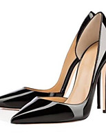 Недорогие -Жен. Комфортная обувь Полиуретан Лето Обувь на каблуках На шпильке Черный
