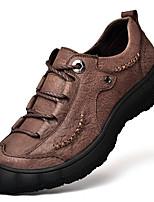 abordables -Homme Chaussures en cuir Cuir Nappa Hiver Rétro / Décontracté Basket Garder au chaud Noir / Marron