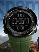 Недорогие -SKMEI Муж. Для пары электронные часы Цифровой 50 m Защита от влаги Календарь Хронометр PU Группа Цифровой Аналого-цифровые На каждый день Мода Черный / Синий / Красный - Зеленый Синий Хаки