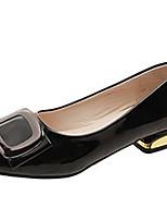 Недорогие -Жен. Балетки Полиуретан Осень На каждый день Обувь на каблуках На низком каблуке Бежевый / Лиловый / Розовый / Повседневные