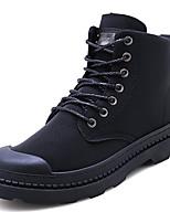 Недорогие -Муж. Армейские ботинки Кожа Зима На каждый день / Английский Ботинки Доказательство износа Ботинки Черный / Серый