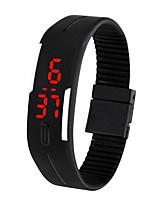 Недорогие -Муж. электронные часы Цифровой 30 m Защита от влаги ЖК экран силиконовый Группа Цифровой На каждый день Мода Черный / Белый / Синий - Коричневый Красный Зеленый