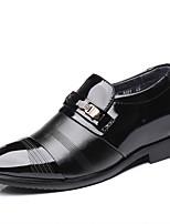 Недорогие -Муж. Официальная обувь Кожа Наступила зима Деловые / Английский Туфли на шнуровке Доказательство износа Черный / Свадьба