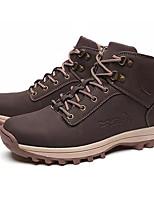 Недорогие -Муж. Армейские ботинки Кожа Зима На каждый день Ботинки Сохраняет тепло Сапоги до середины икры Черный / Коричневый
