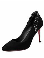 Недорогие -Жен. Комфортная обувь Замша Весна Обувь на каблуках На шпильке Черный / Серый / Красный