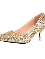 abordables -Femme Chaussures de confort Polyuréthane Printemps & Automne Chaussures à Talons Talon Aiguille Or / Argent