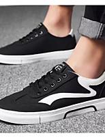 Недорогие -Муж. Комфортная обувь Лён Весна & осень Кеды Черный / Серый