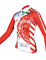 abordables -ILPALADINO Femme Manches Longues Maillot de Cyclisme - Rose Mode Cyclisme Hauts / Top Hiver, Elasthanne