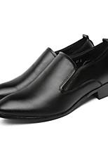 Недорогие -Муж. Официальная обувь Полиуретан Весна & осень На каждый день Мокасины и Свитер Дышащий Черный