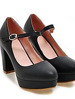 Недорогие -Жен. Комфортная обувь Полиуретан Лето Обувь на каблуках На толстом каблуке Белый / Черный / Розовый