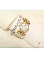 Недорогие -Жен. Наручные часы Кварцевый Имитация Алмазный Группа Аналого-цифровые Мода Серебристый металл / Золотистый - Золотой Серебряный / Нержавеющая сталь