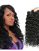 Недорогие -4 Связки Малазийские волосы / Вьетнамские волосы Волнистые Натуральные волосы / Необработанные натуральные волосы Подарки / Косплей Костюмы / Человека ткет Волосы 8-28 дюймовый Естественный цвет