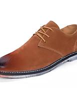 baratos -Homens Sapatos Confortáveis Camurça / Couro Ecológico Outono Negócio Oxfords Não escorregar Preto / Marron