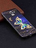 Недорогие -Кейс для Назначение SSamsung Galaxy J6 / J4 С узором Кейс на заднюю панель Бабочка Мягкий ТПУ для J7 (2017) / J6 (2018) / J5 (2017)