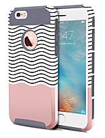 Недорогие -BENTOBEN Кейс для Назначение Apple iPhone 6 Plus / iPhone 6s Plus Защита от удара / С узором Кейс на заднюю панель Полосы / волосы Твердый ТПУ / ПК для iPhone 6s Plus / iPhone 6s / iPhone 6 Plus