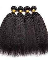abordables -4 offres groupées Cheveux Péruviens Droit Yaki Non Traités / Cheveux humains Tissages de cheveux humains / Extension / Bundle cheveux 8-28 pouce Couleur naturelle Tissages de cheveux humains Soirée