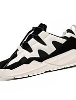 Недорогие -Муж. Комфортная обувь Полиуретан Осень На каждый день Кеды Дышащий Белый / Черный / Хаки