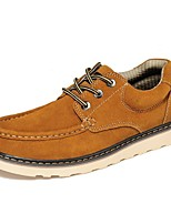 baratos -Homens Sapatos de couro Pele Napa Outono Vintage / Casual Oxfords À Prova-de-Água Marron