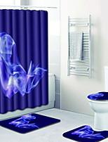 Недорогие -1 комплект Modern Коврики для ванной 100 г / м2 полиэфирный стреч-трикотаж Креатив Прямоугольная Ванная комната Новый дизайн