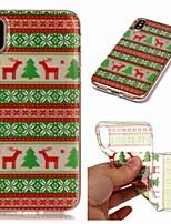 abordables -Coque Pour Apple iPhone XR / iPhone XS Max Transparente / Motif Coque Animal / Noël Flexible TPU pour iPhone XS / iPhone XR / iPhone XS Max