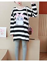 abordables -t-shirt ample femme - bande dessinée / bloc de couleur col rond