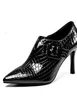 Недорогие -Жен. Балетки Лакированная кожа Осень Обувь на каблуках На шпильке Черный / Красный