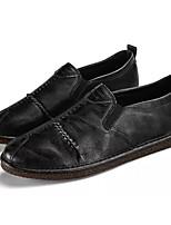 Недорогие -Муж. Комфортная обувь Полиуретан Осень Деловые Мокасины и Свитер Доказательство износа Черный / Серый