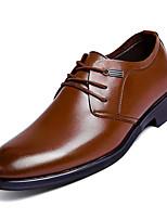 Недорогие -Муж. Комфортная обувь Полиуретан Осень Туфли на шнуровке Коричневый