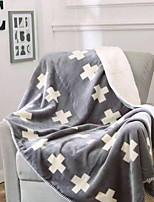 baratos -Flanela, Impressão Reactiva Poá Algodão cobertores