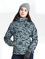abordables -Femme Veste de Ski Pare-vent, Etanche, Garder au chaud Ski / Camping / Randonnée / Snowboard Mélange de Polyester & Coton, Flanelle Veste d'Hiver Tenue de Ski
