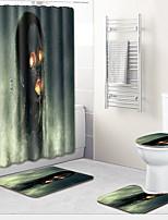 Недорогие -1 комплект Традиционный Коврики для ванны 100 г / м2 полиэфирный стреч-трикотаж Креатив Прямоугольная Ванная комната Новый дизайн