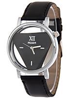 Недорогие -Жен. Наручные часы Кварцевый Творчество Повседневные часы PU Группа Аналоговый Мода Черный / Белый - Белый Черный Черный / Белый