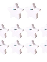 abordables -BRELONG® 10pcs Pentacle LED Night Light Blanc Alimentation AC Pour les enfants / Créatif / Contrôle de la lumière 220-240 V