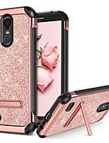 Недорогие -BENTOBEN Кейс для Назначение LG StyLo 3 Защита от удара / со стендом / Покрытие Кейс на заднюю панель Сияние и блеск Твердый Кожа PU / ТПУ / ПК для LG StyLo 3