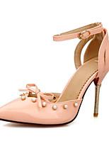 baratos -Mulheres Sapatos Confortáveis Couro Ecológico Primavera Saltos Salto Agulha Branco / Azul / Rosa claro