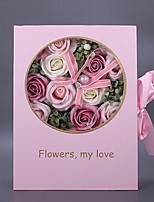 Недорогие -Искусственные Цветы 1 Филиал Классический / Односпальный комплект (Ш 150 x Д 200 см) Стиль / Modern Розы Букеты на стол