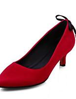 Недорогие -Жен. Комфортная обувь Полиуретан Весна Обувь на каблуках На шпильке Черный / Серый / Красный