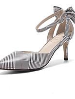 Недорогие -Жен. Балетки Наппа Leather Зима Обувь на каблуках На шпильке Черный / Красный / Зеленый