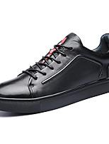 Недорогие -Муж. Кожаные ботинки Наппа Leather Весна Спортивные / На каждый день Кеды Нескользкий Черный