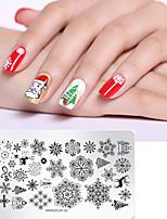 Недорогие -1 pcs Инструменты для ногтей DIY шаблон Мультипликационные серии Recyclable маникюр Маникюр педикюр Стиль Рождество