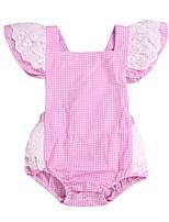 Недорогие -малыш Девочки Пэчворк Без рукавов Bodysuit
