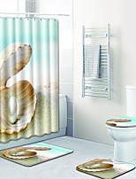 Недорогие -1 комплект На каждый день Коврики для ванны 100 г / м2 полиэфирный стреч-трикотаж Новинки Прямоугольная Ванная комната обожаемый